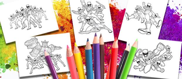 Coloreables Power Rangers